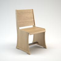 Wooden pew chair