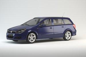 3d model opel astra caravan 2008