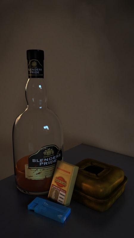 whisky bottle ashtray x