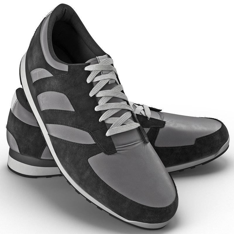 3d running shoes model