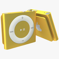 ipod shuffle orange modeled 3d c4d