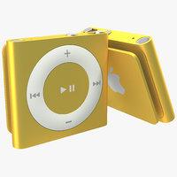 iPod Shuffle Orange 3D Model