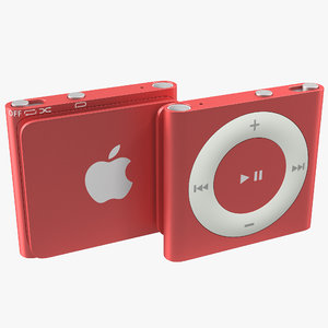 ipod shuffle red modeled 3d max