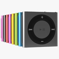 3d model ipod shuffle set modeled