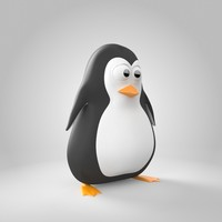 3d model of penguin bird