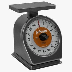 mechanical portion control scale 3d model