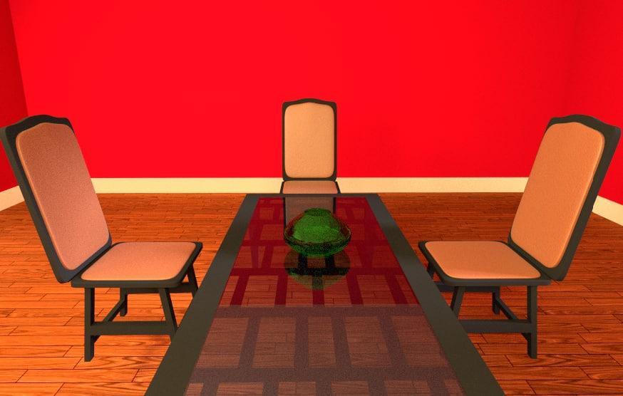 free dinning room 3d model