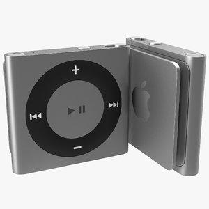 3d model ipod shuffle grey modeled