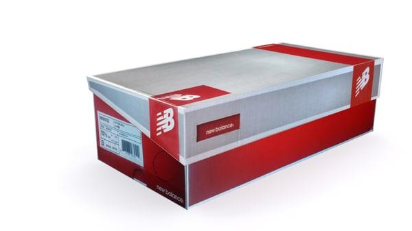 3d new shoe box 3 model