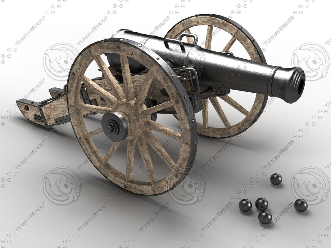 3d 12-pound field cannon