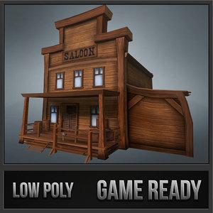 3d model western saloon