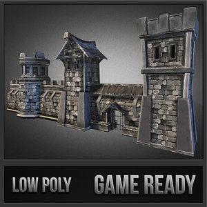 3dsmax medieval stone castle pack