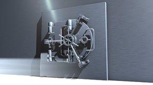 3d vault door model