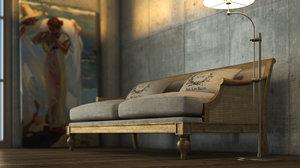 3dsmax vintage sofa