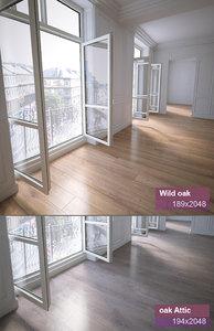 3d wood flooring model