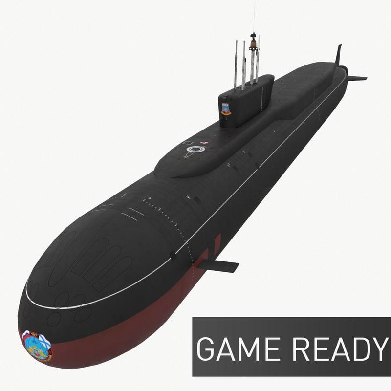 ready k-535 yuri dolgorukiy 3d c4d