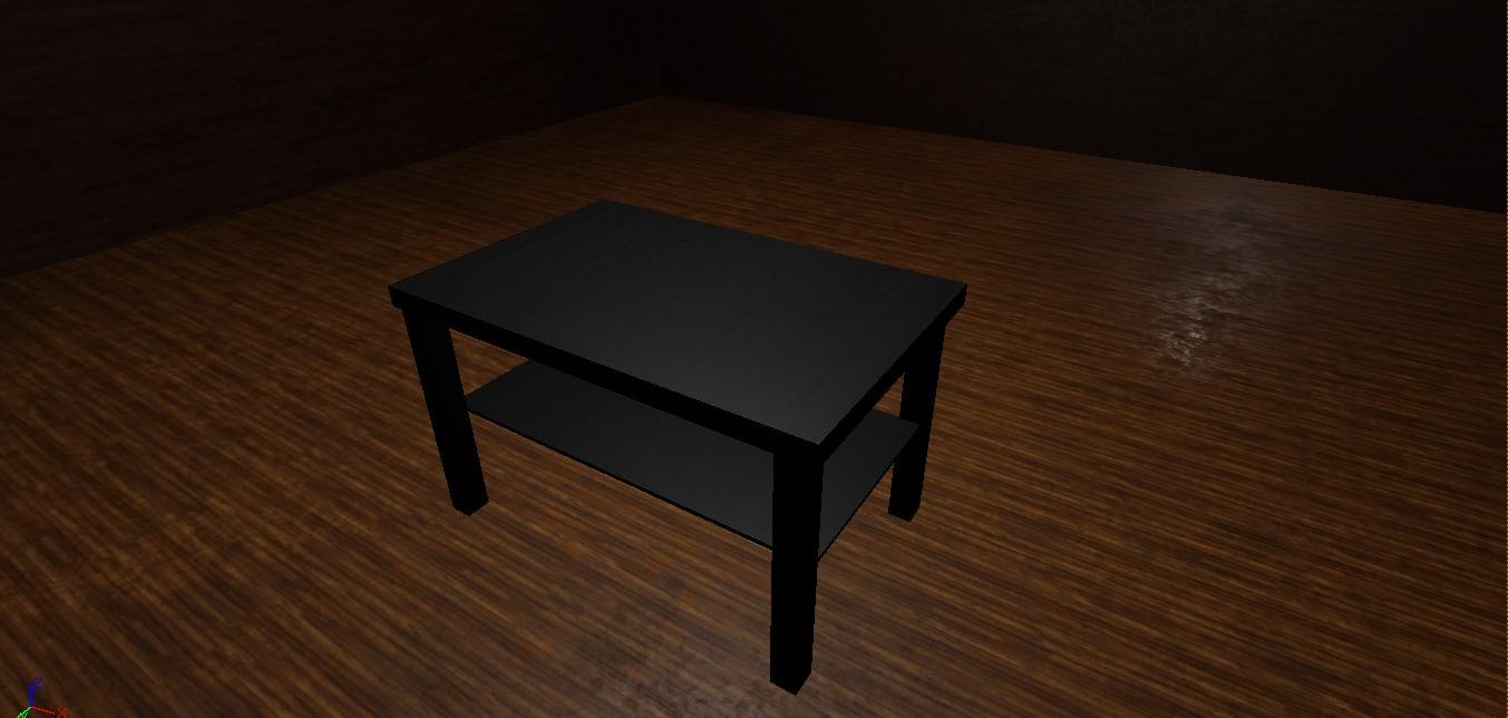 cinema4d wood black table