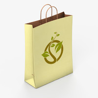 3d paper shopping bag model