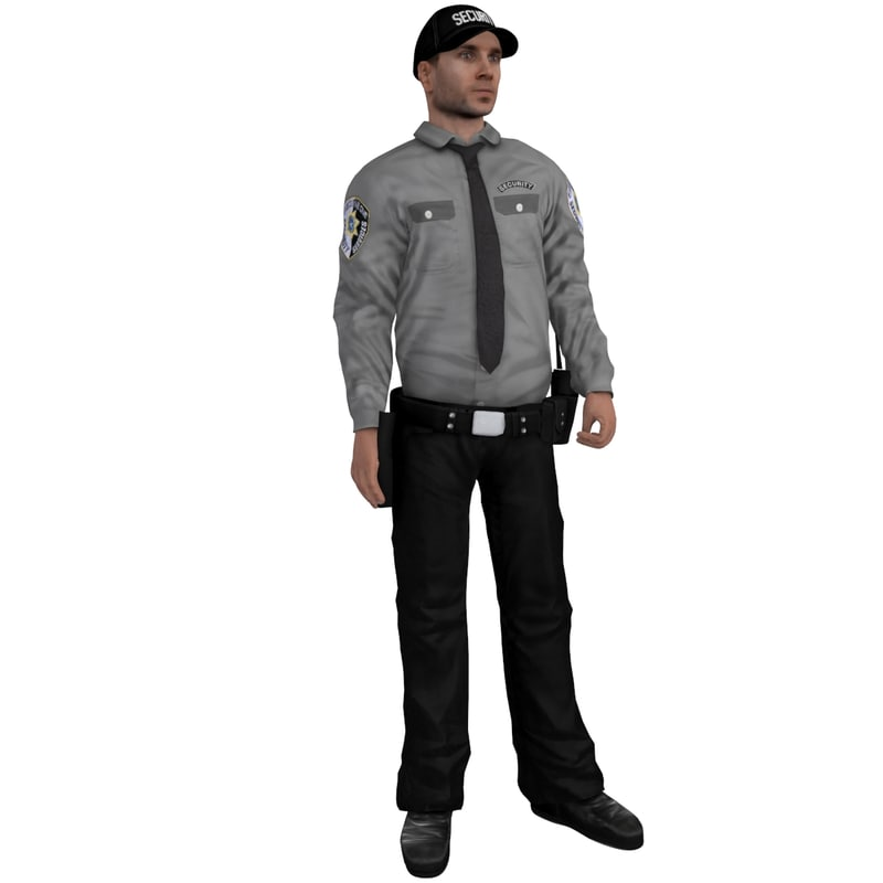 3d rigged security 2 model