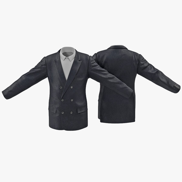 mens suit jacket 5 3d max