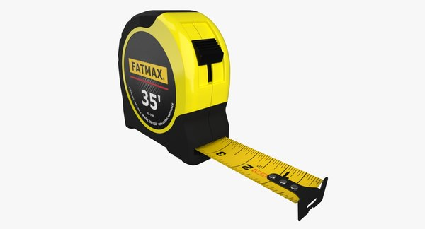 3d model measure tape -