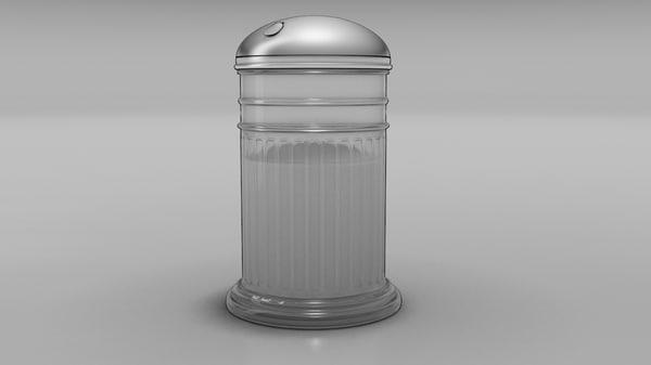 sugar shaker 3d model