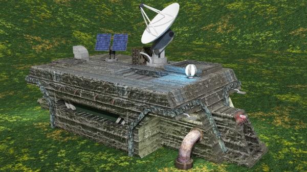 3d ww2 bunker model