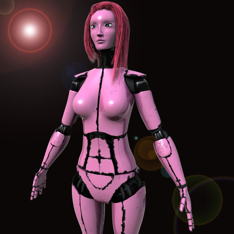 female robot 3d max