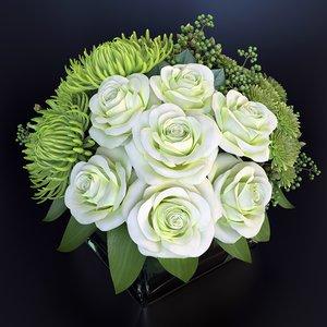 bouquet green fantasy 3d max