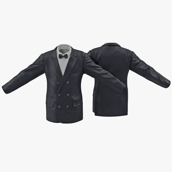mens suit jacket 6 3d model