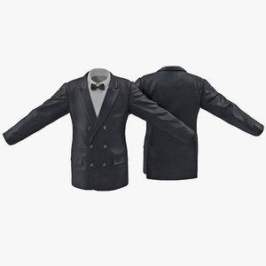 mens suit jacket 6 3d model