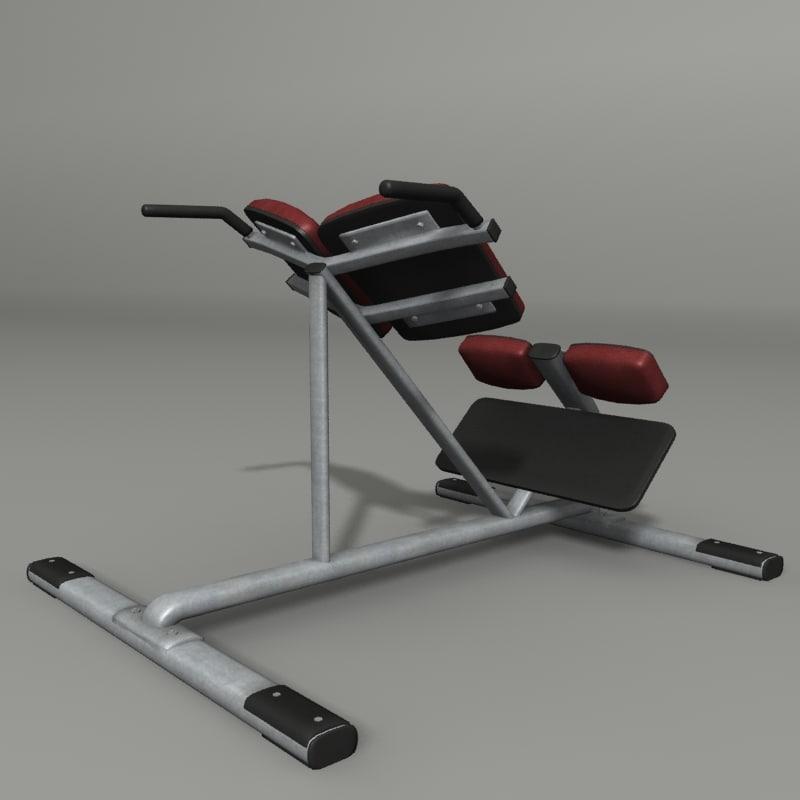 3ds abdominal bench