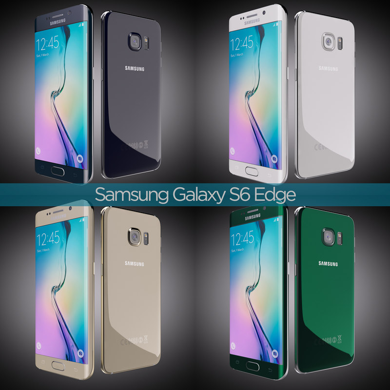 3d flagship samsung galaxy s6 model