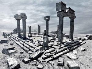3d greek ruins model