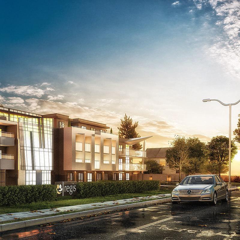 residential office exterior scene max