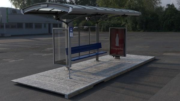 3d stop bus
