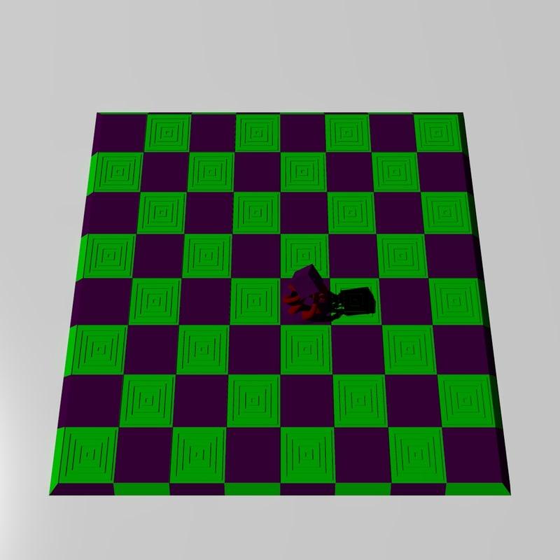 3d fanciful chessboard model
