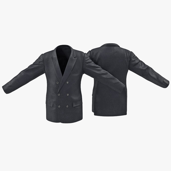 3ds max mens suit jacket 7