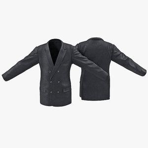 3ds max mens suit jacket 7