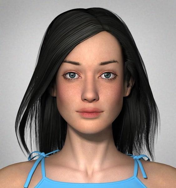 masha realistic woman anatomy 3d model