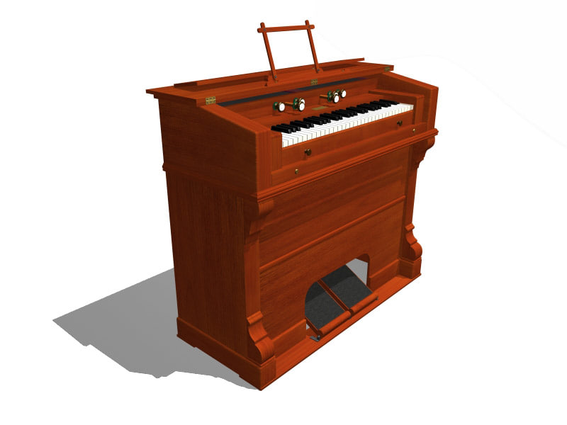3d model harmonium