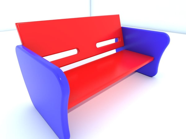 bench chair 3d 3ds