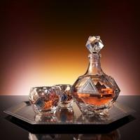 3d model set whiskey havana