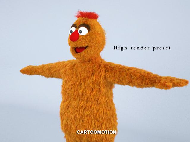 zaydoon muppet fur 3d max