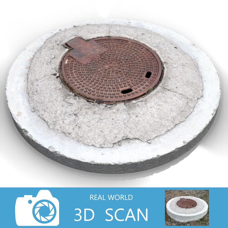 3d scanned sewer lid
