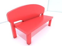 3d model bench plastic