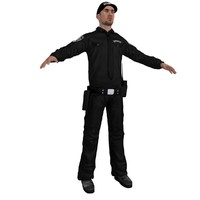 3d model of security agent