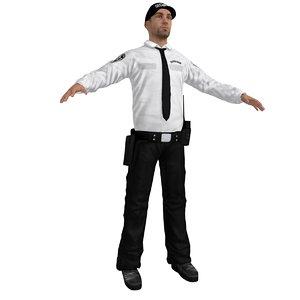 security agent 3d max