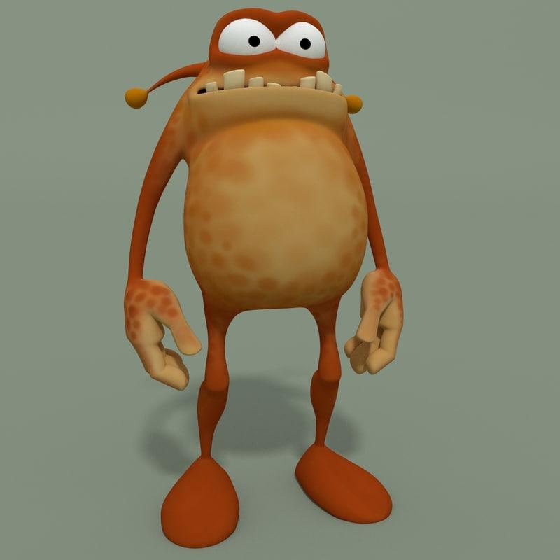 3d model cartoon monsters