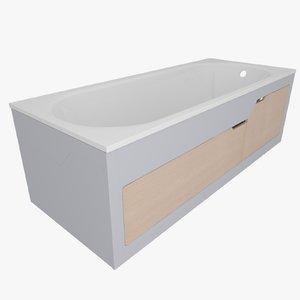 3d model bath screen